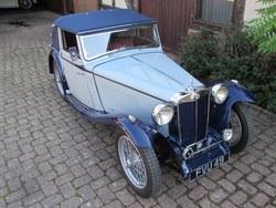 Image of 1939 MG TB  Tickford d.h.c..