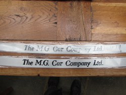 """MG CAR COMPANY LTD""  UNDER DOOR THRESHOLD PLATES. Photo 2"