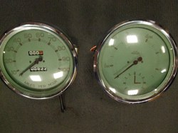 A PAIR OF TA/B/C REPRODUCTION SPEEDO AND REV.COUNTER. Photo 1