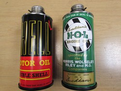 'NOL'  & 'SHELL'  AUXILLARY OIL CANS AND MOUNTING BRACKETS. Photo 1