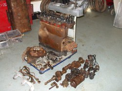COMPLETE MG 6 cyl.  'N' engine, dismantled for restoration.  Very rare to find an original unit complete unit. Photo 1