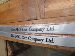 """MG CAR COMPANY LTD""  UNDER DOOR THRESHOLD PLATES. Photo 1"