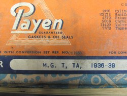 ORIGINAL MMM & TA PAYEN GASKET SETS>>>>new old stock.   PLUS the highest quality UK made Copper/composite MMM head gaskets, seperately or in sets. Photo 4