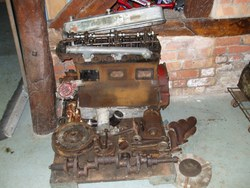 COMPLETE MG 6 cyl.  'N' engine, dismantled for restoration.  Very rare to find an original unit complete unit. Photo 2