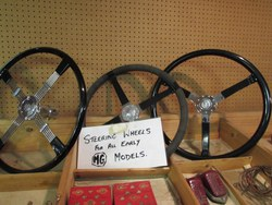 STEERING WHEELS .........All types available for  pre-war models (MMM) plus all TA/TB/TC models Photo 3