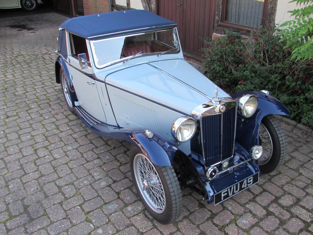 1939 MG TB  Tickford d.h.c..